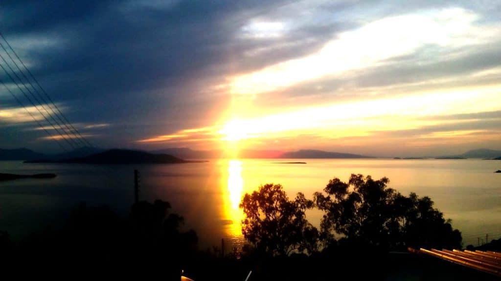 Ηλιοβασίλεμα στην Αίγινα, Sunset in Aegina